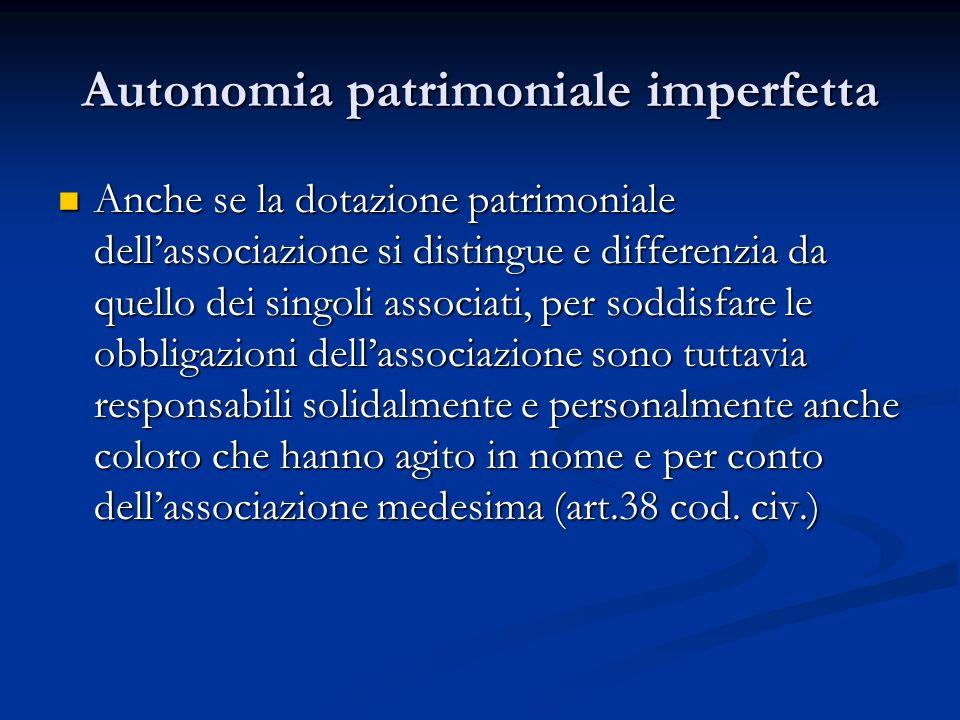 Autonomia patrimoniale imperfetta