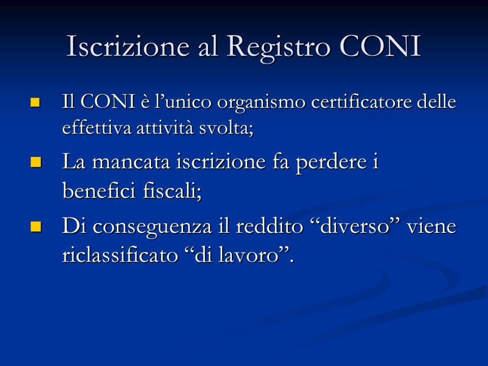 Iscrizione al Registro CONI