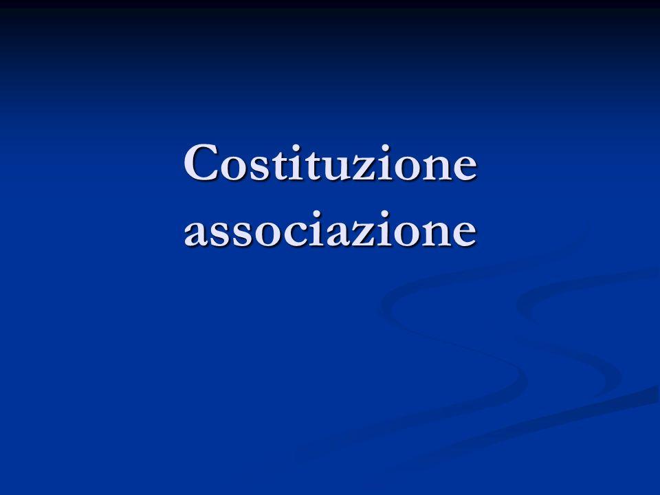 Costituzione associazione