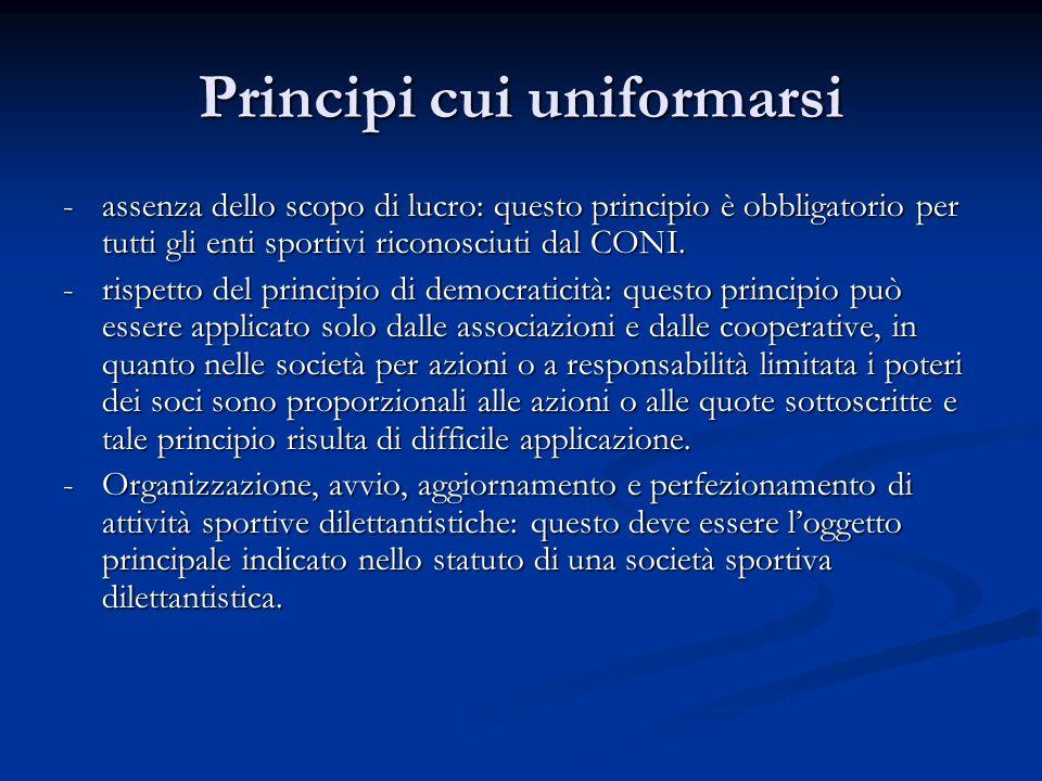 Principi cui uniformarsi