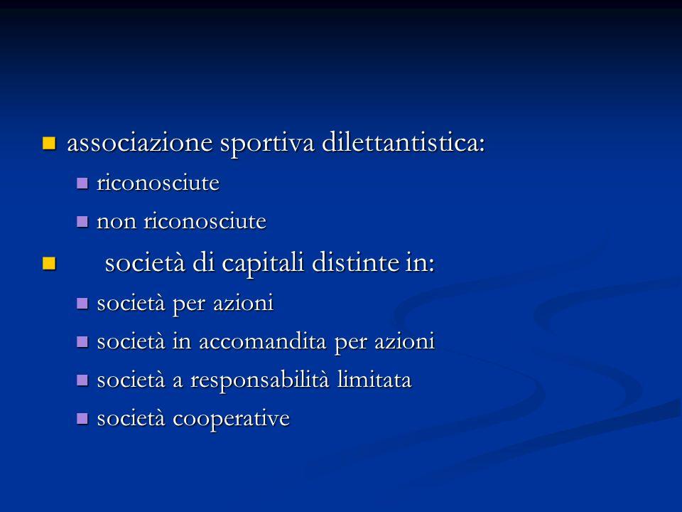 associazione sportiva dilettantistica: