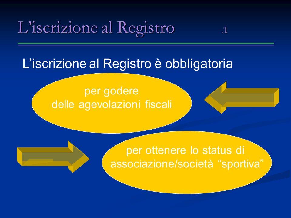 L'iscrizione al Registro .1