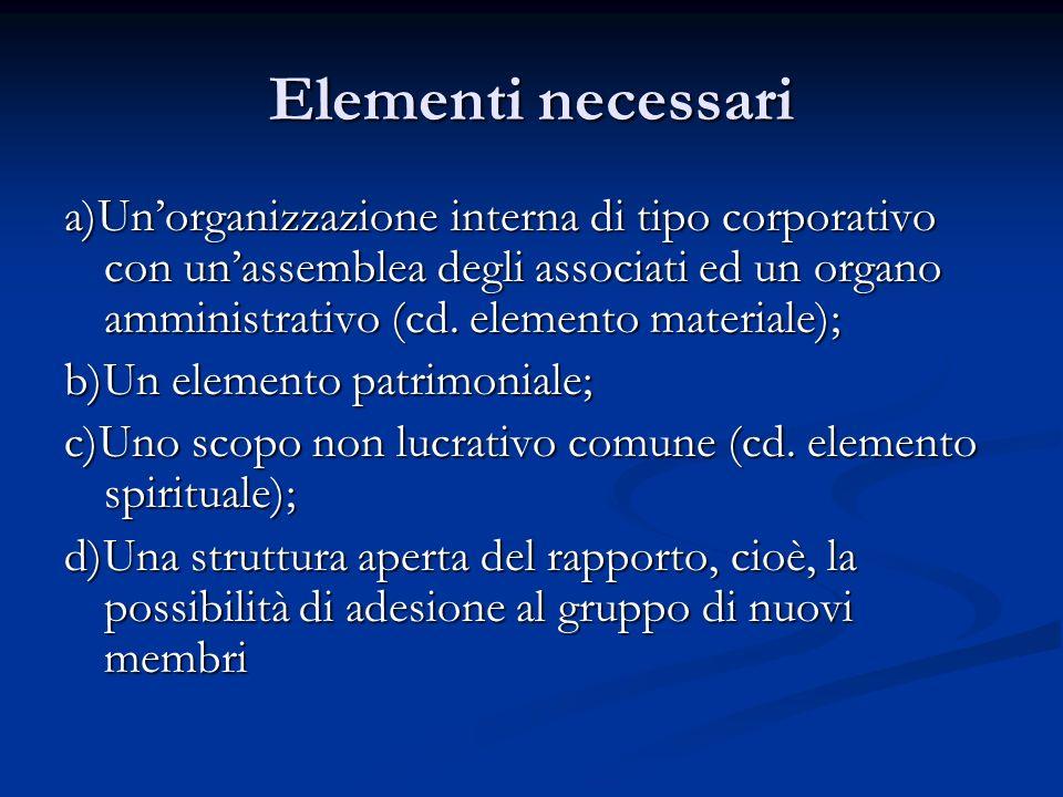 Elementi necessari