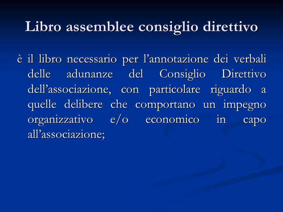 Libro assemblee consiglio direttivo