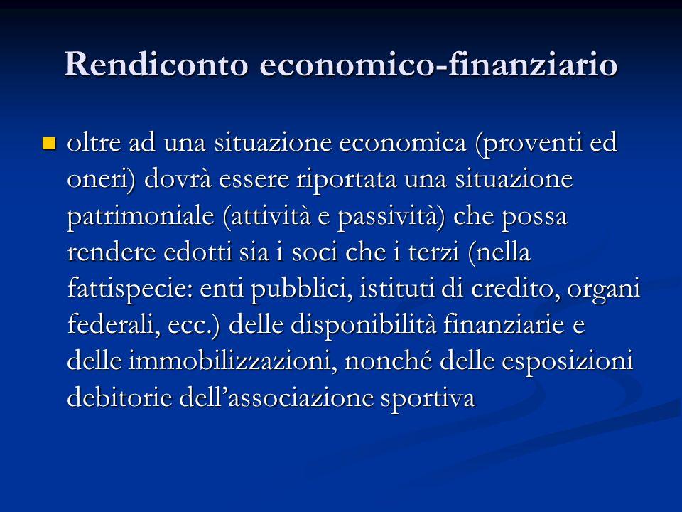 Rendiconto economico-finanziario