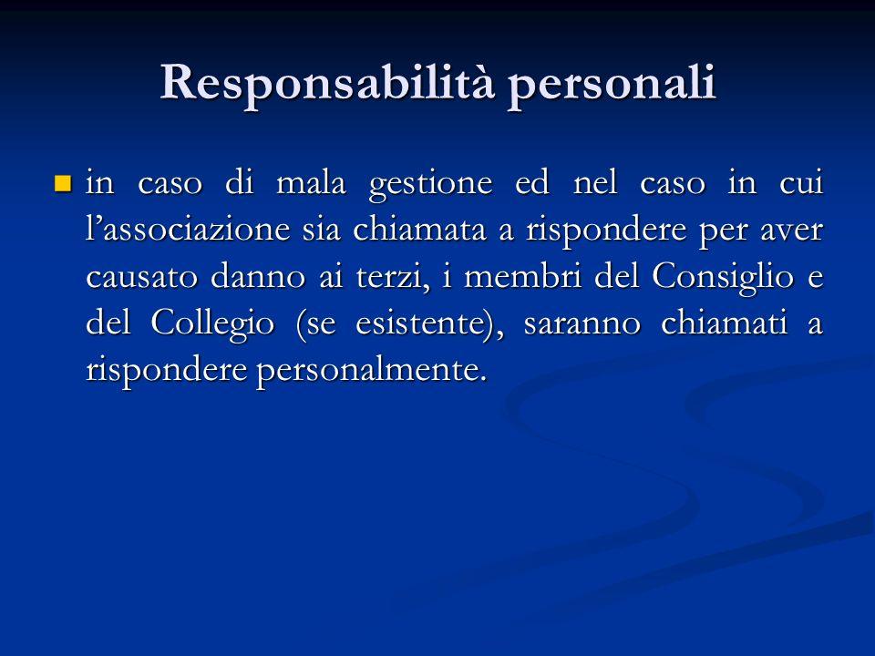 Responsabilità personali