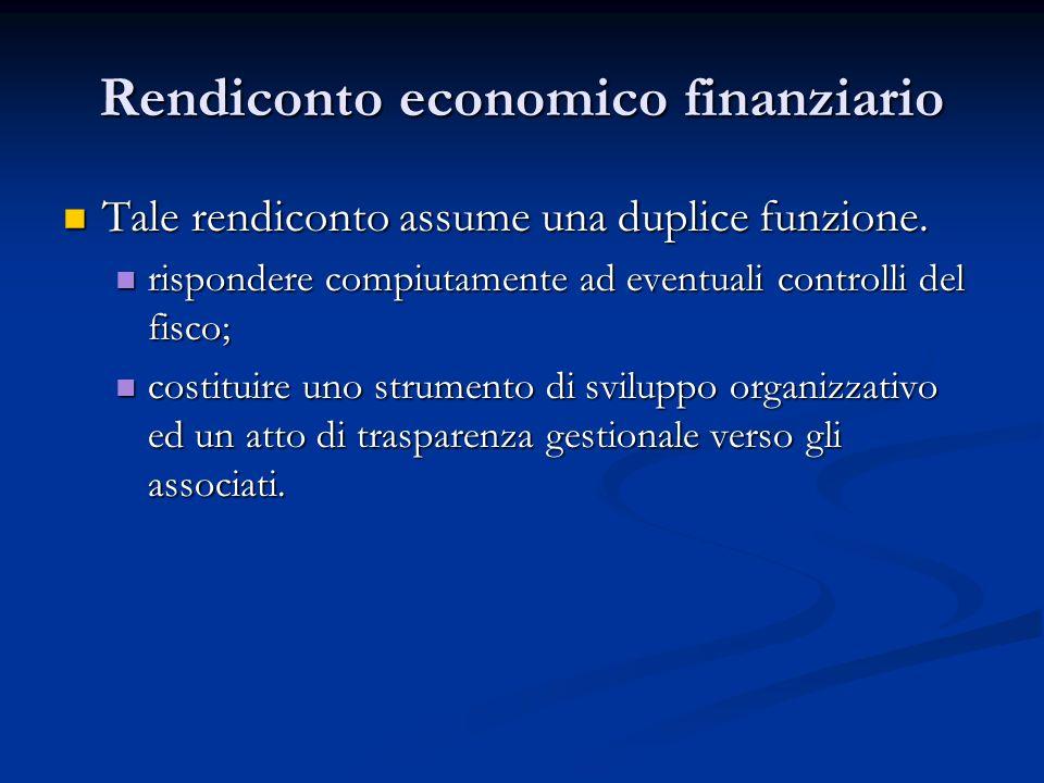 Rendiconto economico finanziario