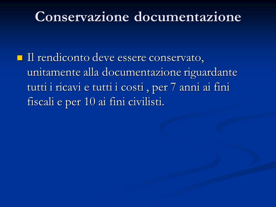 Conservazione documentazione