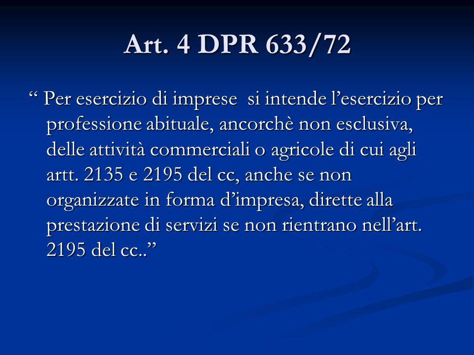 Art. 4 DPR 633/72