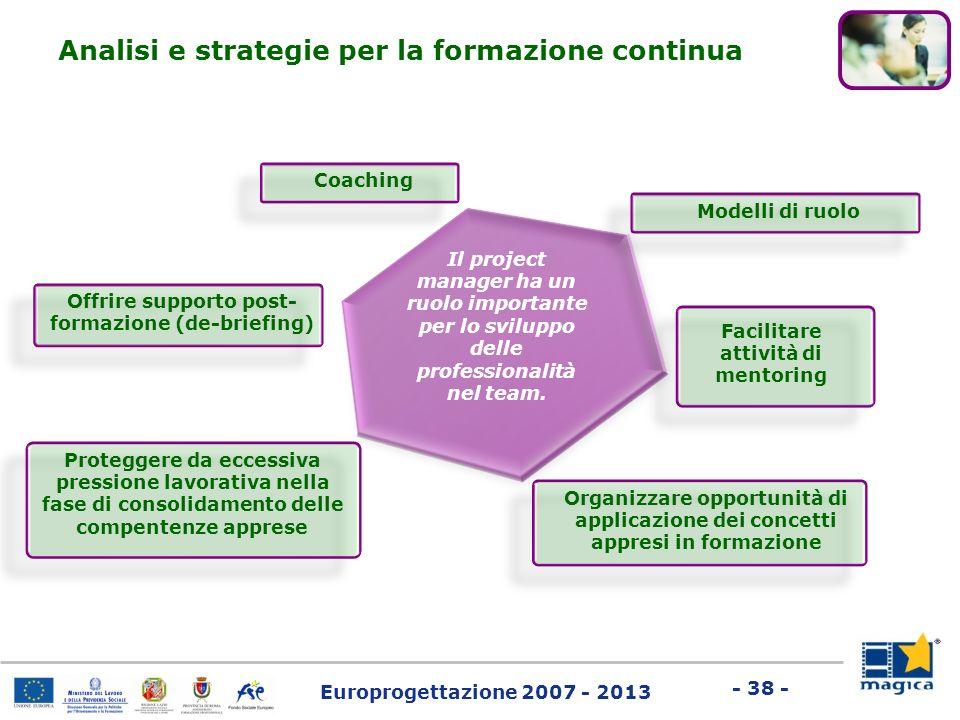 Analisi e strategie per la formazione continua