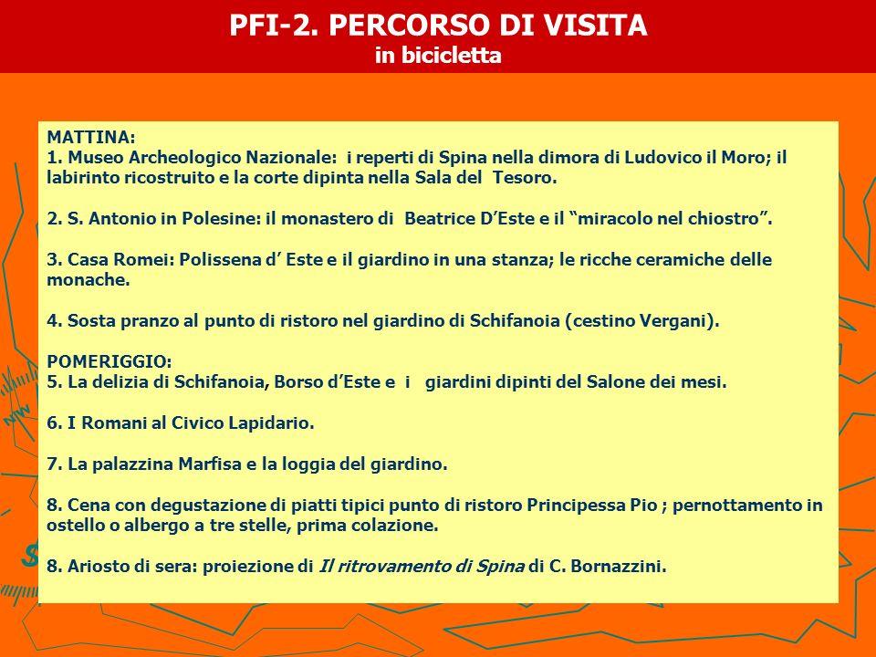 PFI-2. PERCORSO DI VISITA in bicicletta