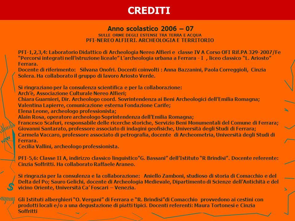 CREDITI Anno scolastico 2006 – 07