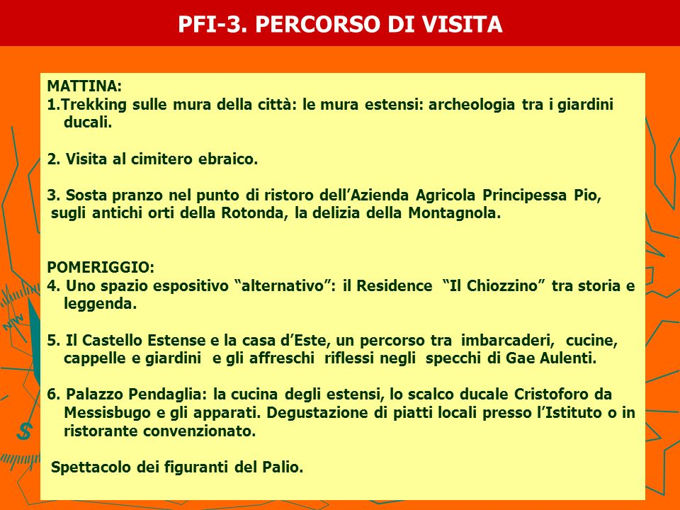 PFI-3. PERCORSO DI VISITA