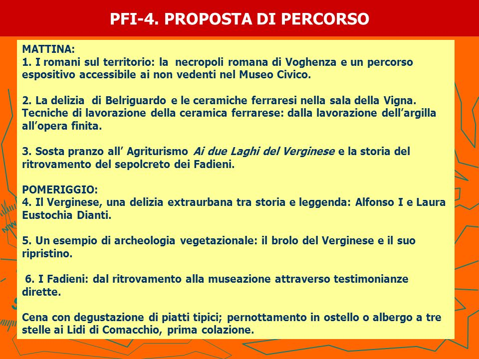 PFI-4. PROPOSTA DI PERCORSO