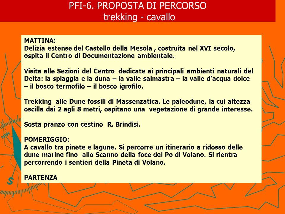 PFI-6. PROPOSTA DI PERCORSO trekking - cavallo