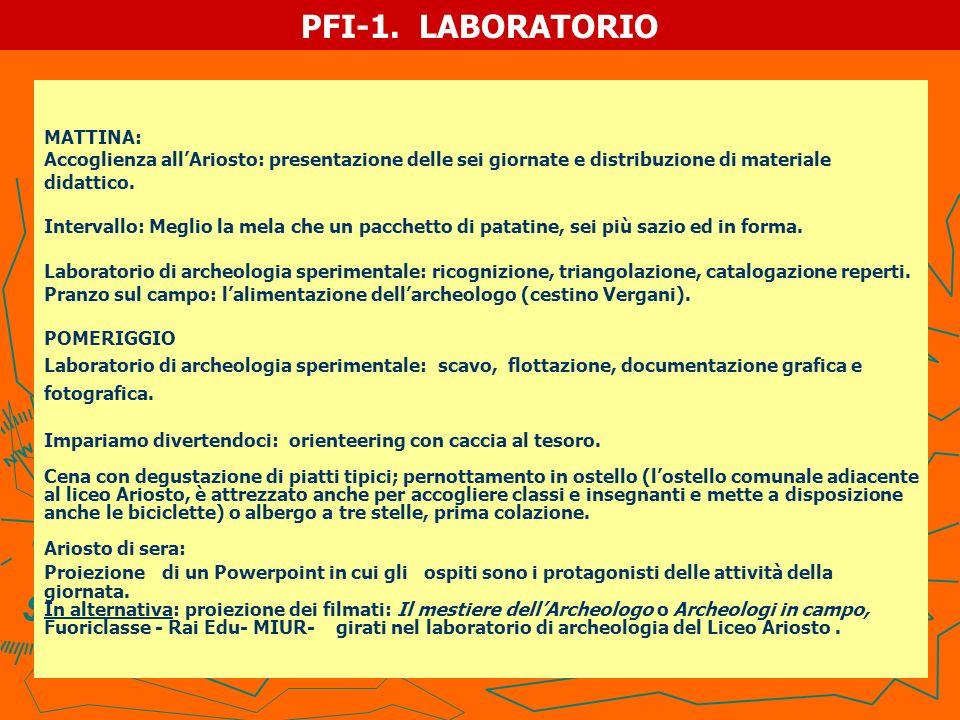 PFI-1. LABORATORIO MATTINA: