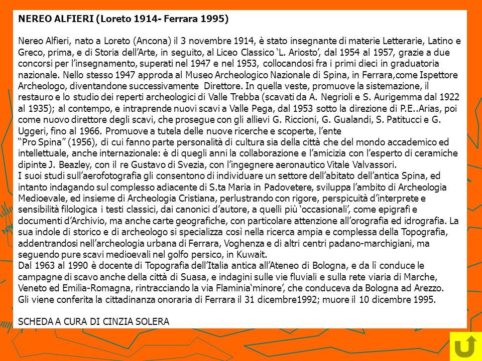 NEREO ALFIERI (Loreto 1914- Ferrara 1995)