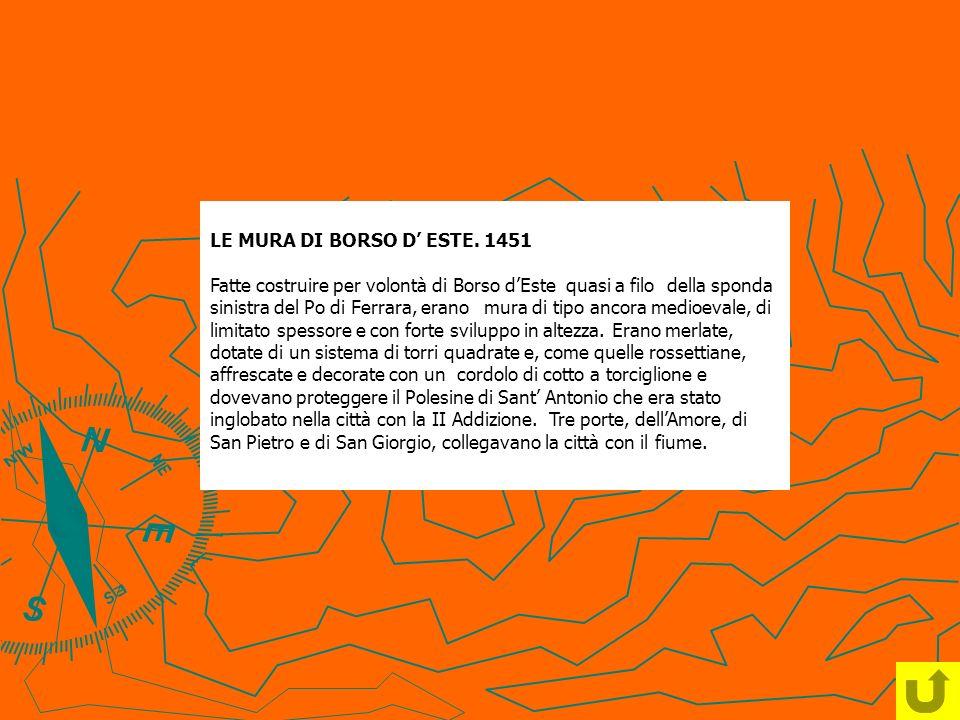 LE MURA DI BORSO D' ESTE. 1451