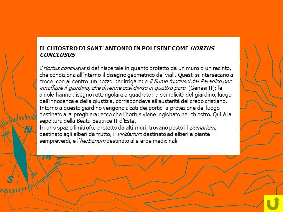 IL CHIOSTRO DI SANT' ANTONIO IN POLESINE COME HORTUS CONCLUSUS