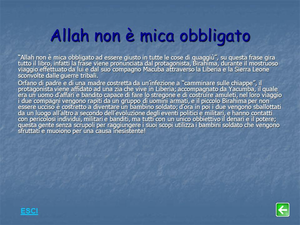 Allah non è mica obbligato