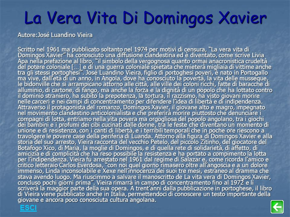 La Vera Vita Di Domingos Xavier