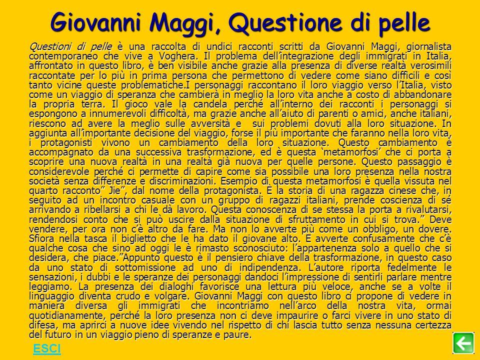 Giovanni Maggi, Questione di pelle