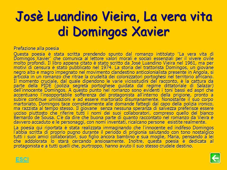 Josè Luandino Vieira, La vera vita di Domingos Xavier