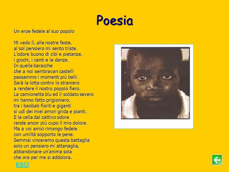 Poesia ESCI Un eroe fedele al suo popolo