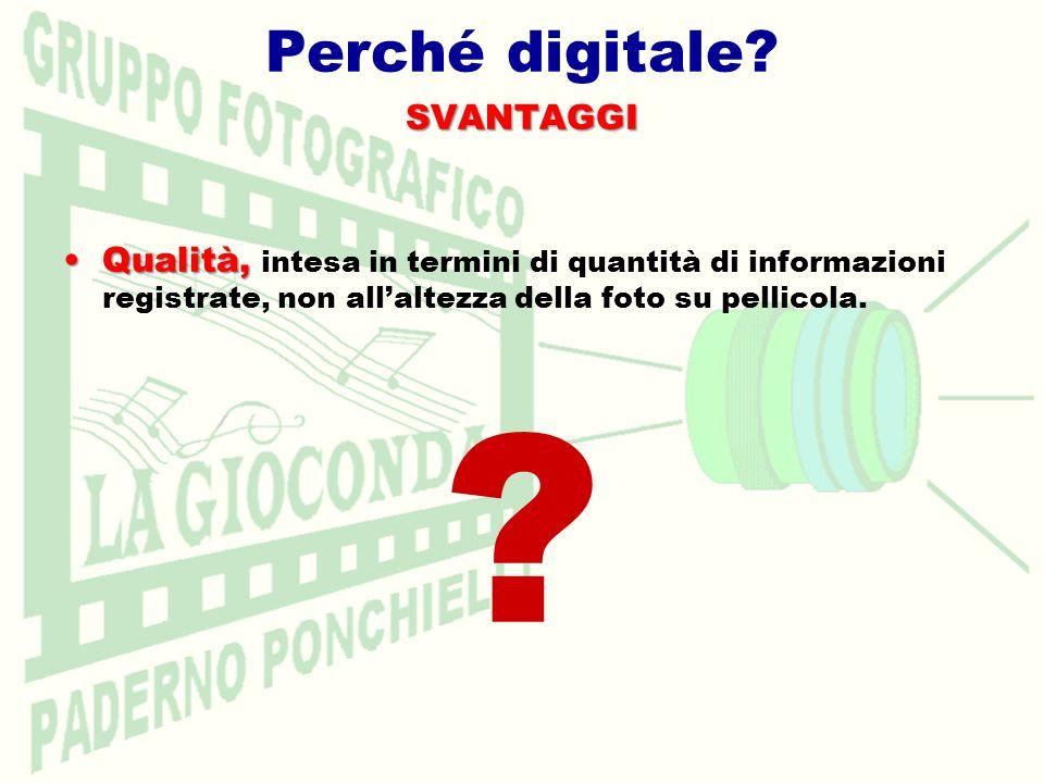 Perché digitale SVANTAGGI