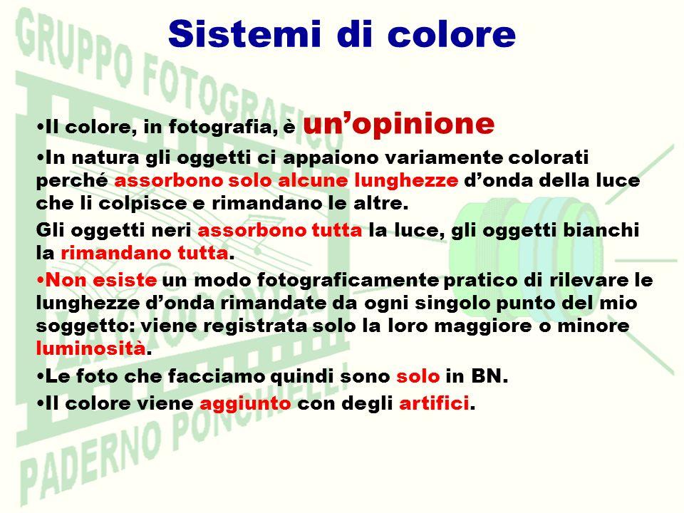Sistemi di colore Il colore, in fotografia, è un'opinione