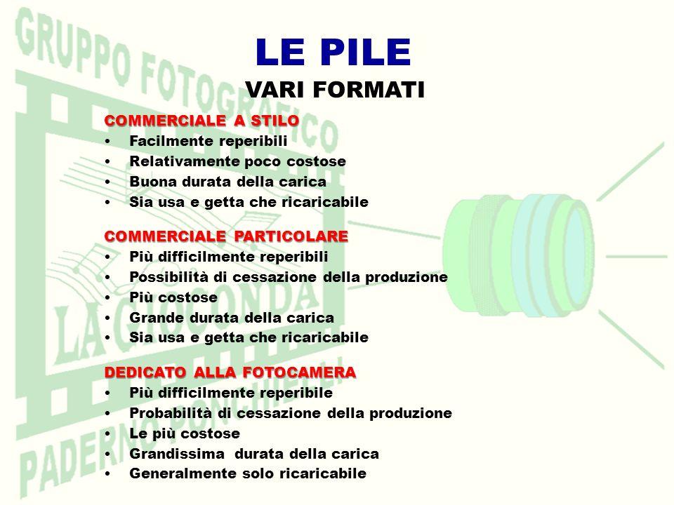 LE PILE VARI FORMATI COMMERCIALE A STILO COMMERCIALE PARTICOLARE