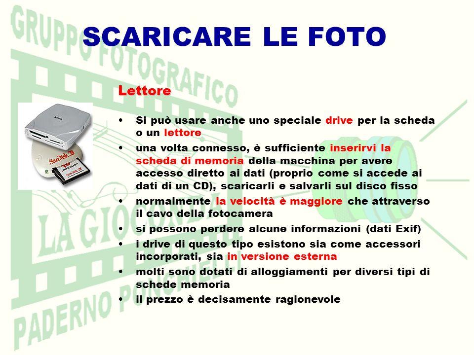 SCARICARE LE FOTO Lettore