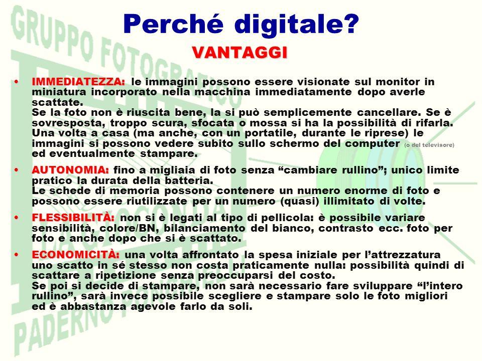 Perché digitale VANTAGGI