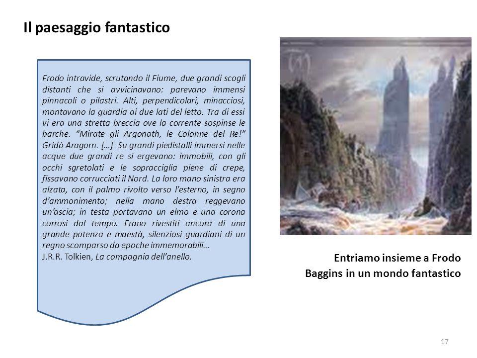 Il paesaggio fantastico Entriamo insieme a Frodo Baggins in un mondo fantastico