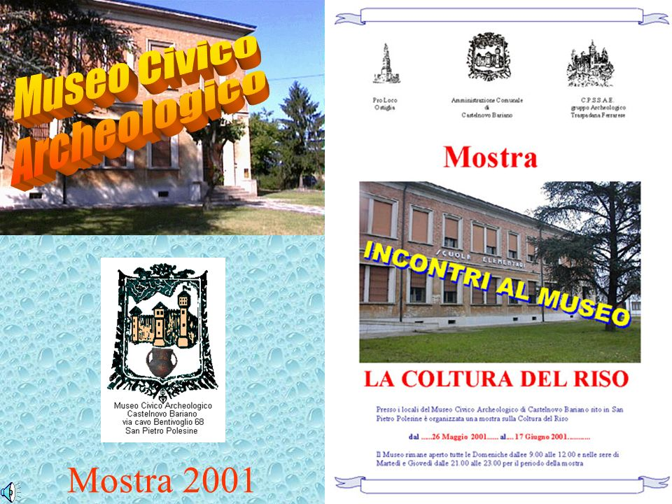 Museo Civico Archeologico Mostra 2001