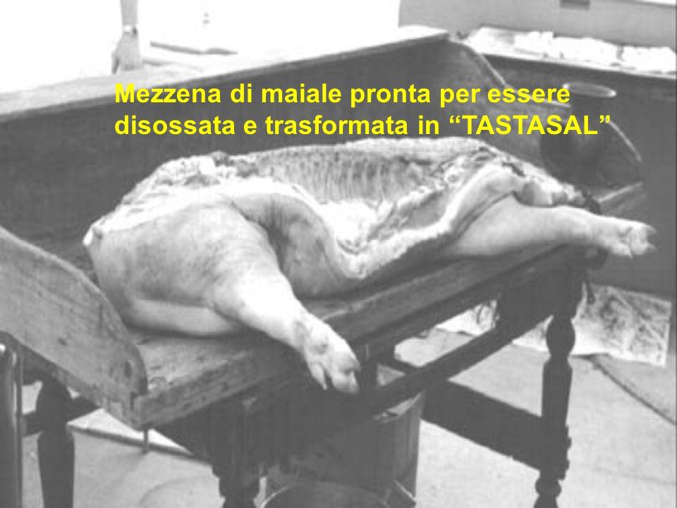 Mezzena di maiale pronta per essere disossata e trasformata in TASTASAL