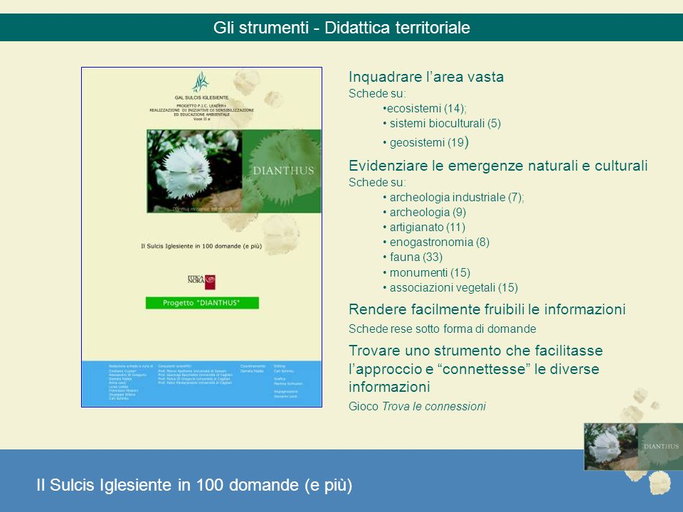 Gli strumenti - Didattica territoriale