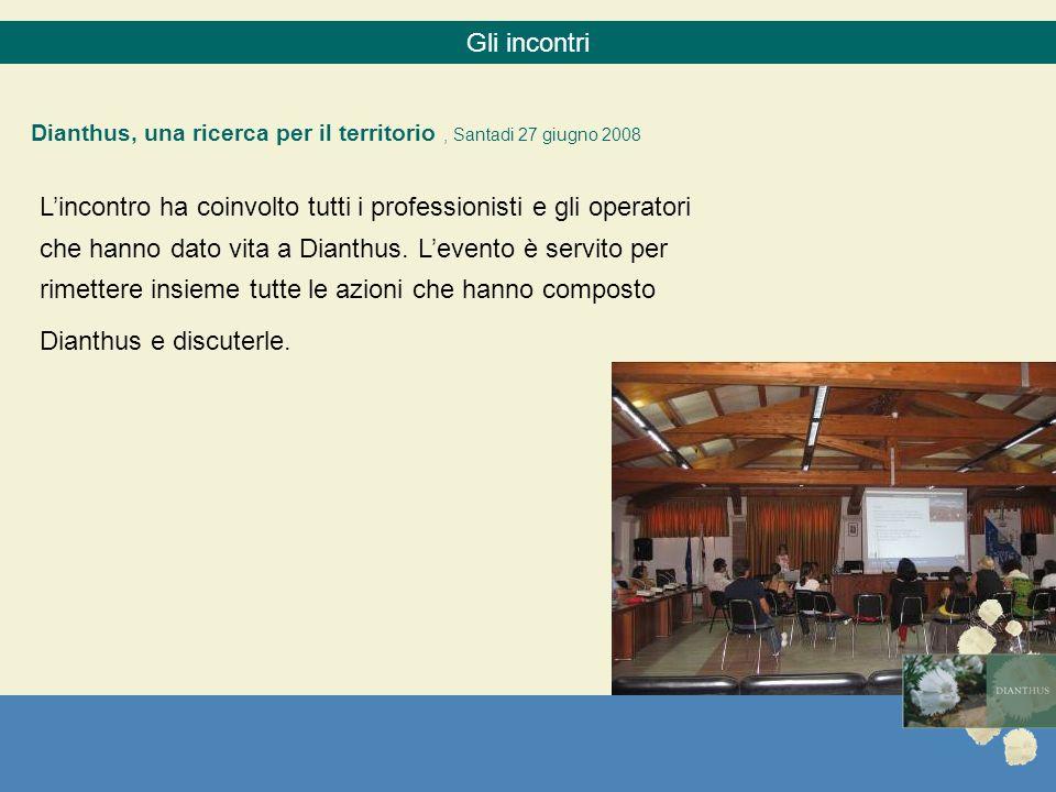 Gli incontri Dianthus, una ricerca per il territorio , Santadi 27 giugno 2008.