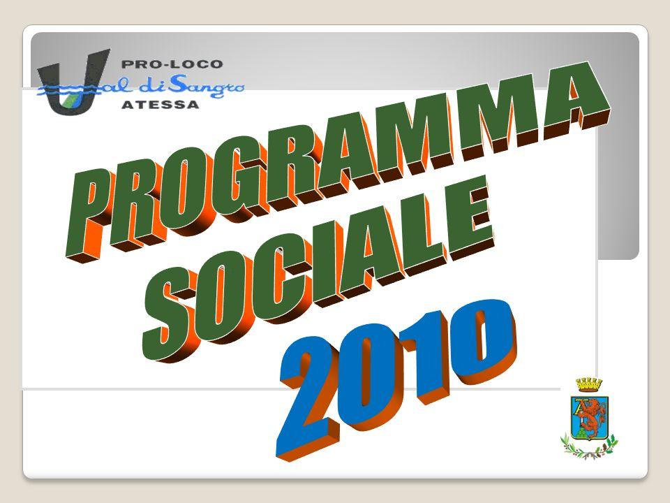 PROGRAMMA SOCIALE 2010