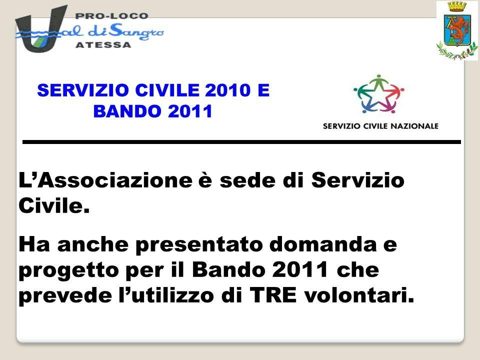 SERVIZIO CIVILE 2010 E BANDO 2011