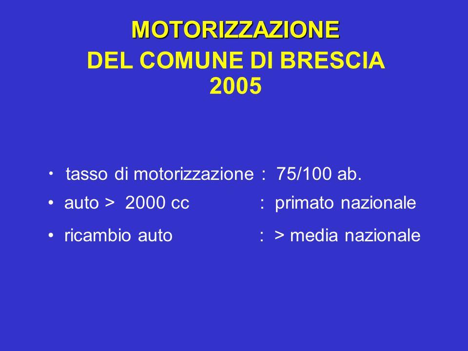 MOTORIZZAZIONE DEL COMUNE DI BRESCIA 2005