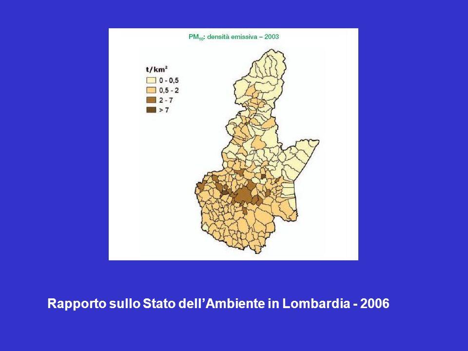 Rapporto sullo Stato dell'Ambiente in Lombardia - 2006