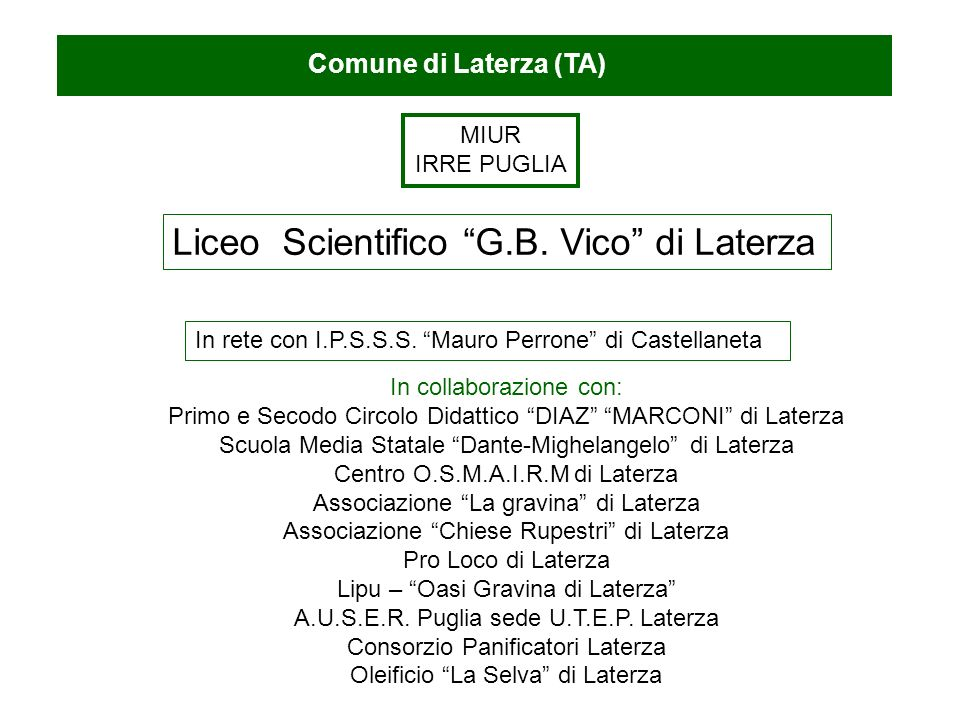 Liceo Scientifico G.B. Vico di Laterza