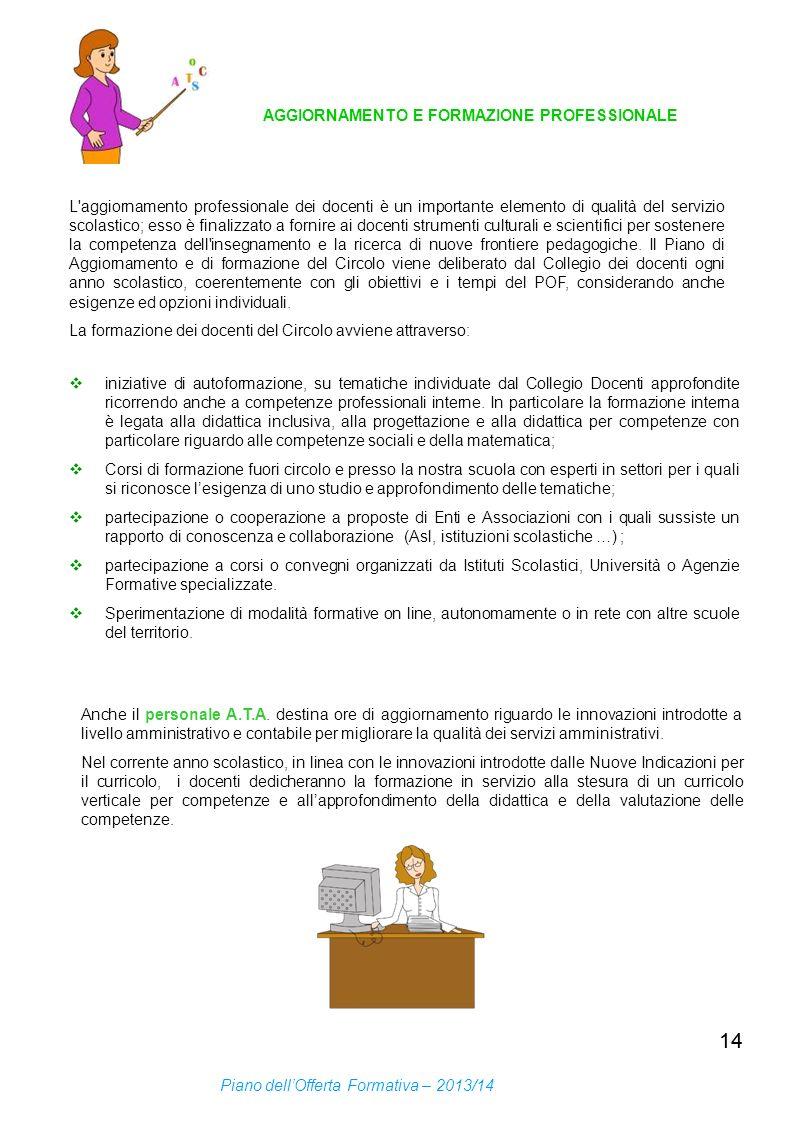 14 AGGIORNAMENTO E FORMAZIONE PROFESSIONALE