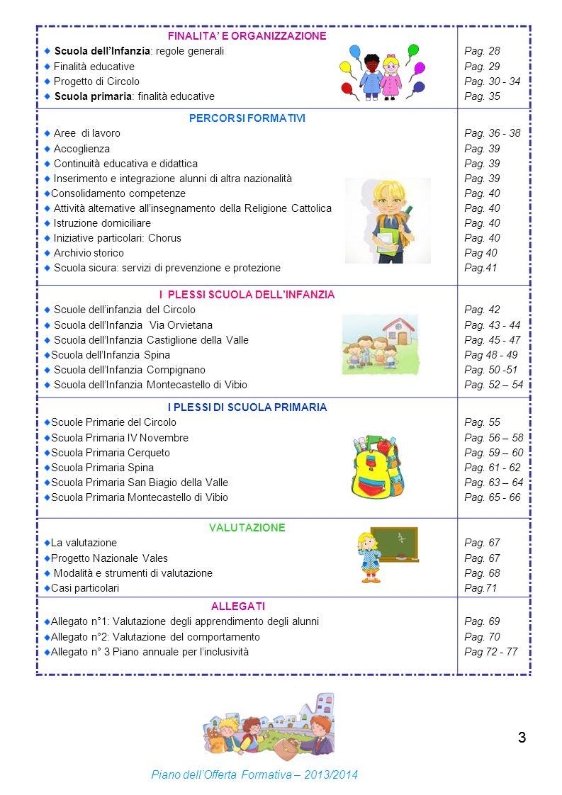 3 Piano dell'Offerta Formativa – 2013/2014 FINALITA' E ORGANIZZAZIONE