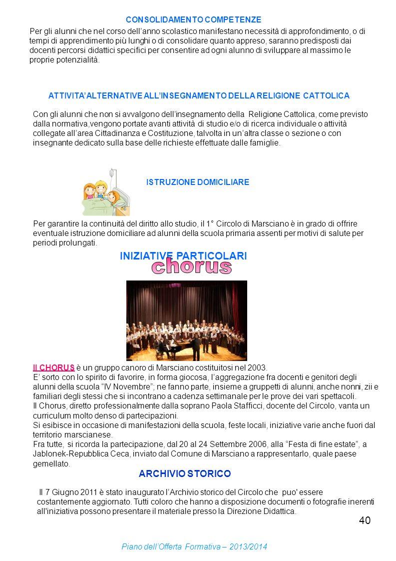 chorus INIZIATIVE PARTICOLARI ARCHIVIO STORICO