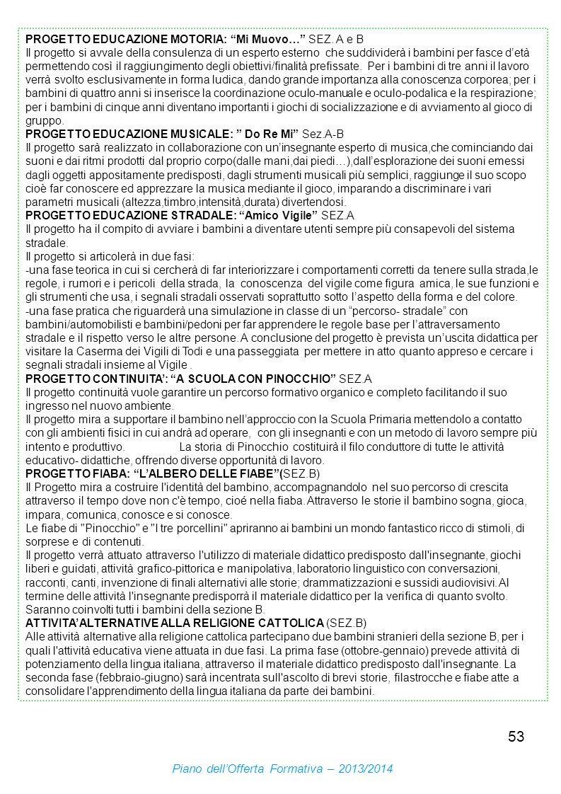 Piano dell'Offerta Formativa – 2013/2014