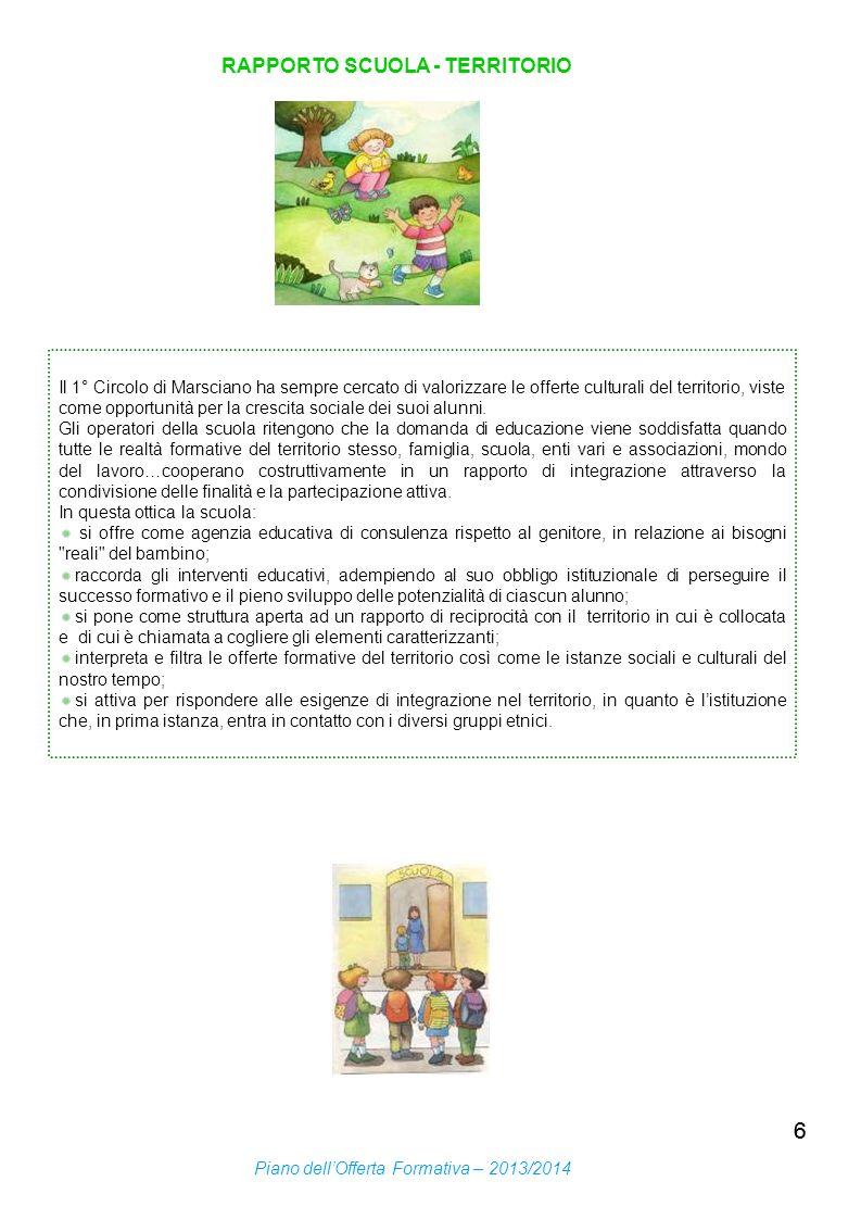 6 RAPPORTO SCUOLA - TERRITORIO