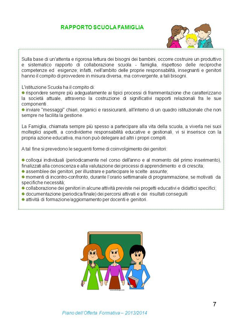 7 RAPPORTO SCUOLA FAMIGLIA