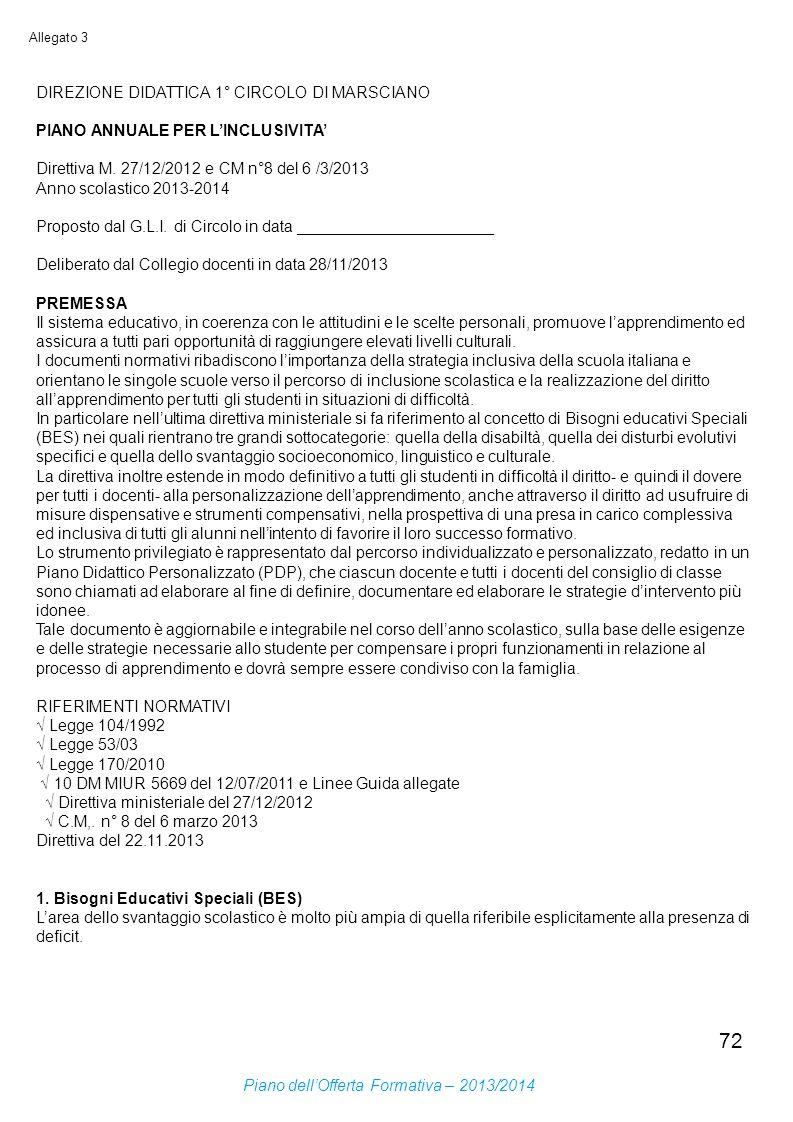 DIREZIONE DIDATTICA 1° CIRCOLO DI MARSCIANO